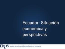Situación económica del Ecuador