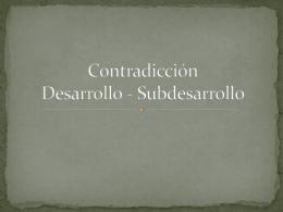 Contradicción Desarrollo