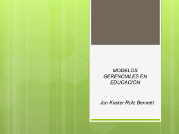 Modelos Gerenciales en Educación