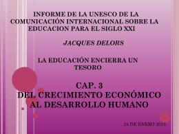 DESARROLLO HUMANO Y PILARES DE LA EDUC. PROFR