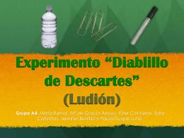 """Experimento """"Diablillo de Descartes"""" (Ludión) Grupo A4"""