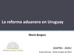 La reforma aduanera en el Uruguay