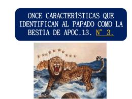 435ONCE CARACTERISTICAS QUE IDENTIFICAN AL PAPADO