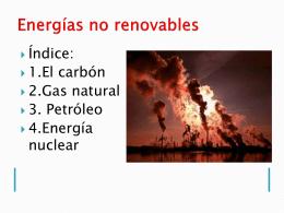 presentación energías no renovables