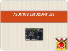 ASUNTOS ESTUDIANTILES - Facultad de Economía