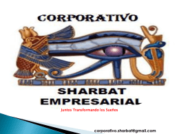 Diapositiva 1 - CORPORATIVO SHARBAT EMPRESARIAL