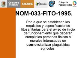 NOM-033-FITO