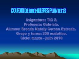 COLEGIO DE BACHILLERES PLANTEL13