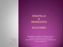 Donatello & bruneleschi escultores
