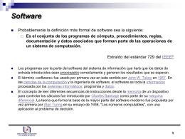 Software - Depto. Sistemas de Información