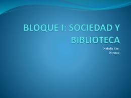 Sociedad y Biblioteca