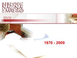 Palabras iniciales - Biblioteca Nacional de Maestros