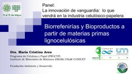 Biorrefinerías y Bioproductos a partir de materias primas