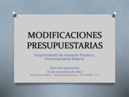 PresentacionModificacionesPresupuestarias