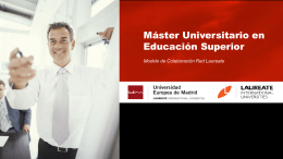 Master Universitario en Educación Superior - UEM
