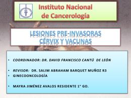 TEMARIO - Instituto Nacional de Cancerología