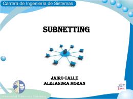 subnetting realizado por los alumnos