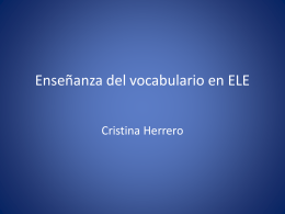 Ensenanza del vocabulario en ELE