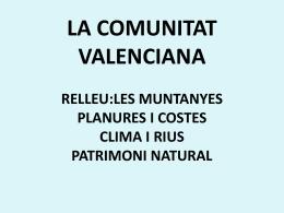 A tema 1 LA COMUNITAT VALENCIANA