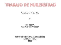 TRABAJO DE HUILENSIDAD