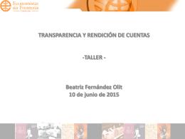 RSC Transparencia y Rendición de Cuentas (pptx