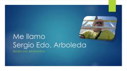 Me llamo Sergio Edo. Arboleda