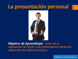 La presentación personal Español A1/ Jacqueline