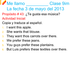 Me llamo ______ Clase 9im La fecha 8 de mayo del 2013