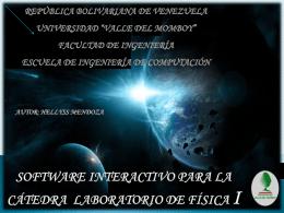 Software Interactivo para la Cátedra Laboratorio de Física I