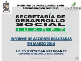 Actividades de la Secretaría Desarrollo Social Marzo
