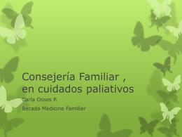 Consejería Familiar , en cuidados paliativos