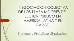 negociación colectiva de los trabajadores del