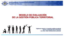 Análisis Gestión Pública Territorial en la garantía de los derechos 1.