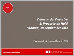 Programa del Derecho Relativo a los Desastres