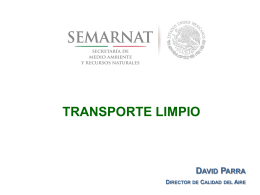 Transporte Limpio (David Parra-Director de Calidad del Aire