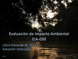 Evaluación de Impacto Ambiental EIA-030 UDLA Marzo