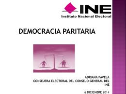 Presentación de la Lic. Adriana Favela.