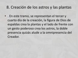 8. Creación de los astros y las plantas