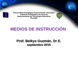 medios de instrucciòn on line - Salón Virtual de la Universidad