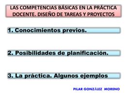 Las competencias básicas en la práctica docente. Diseño de tareas