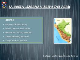 1.- LAS ECORREGIONES DEL PERÚ