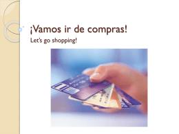 ¡Vamos ir de compras!