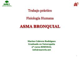 Trabajo práctico Fisiología Humana ASMA BRONQUIAL