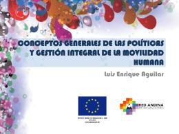 Conceptos generales de las políticas y gestión integral de las