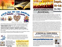 September 8 2013 Bulletin - Iglesia Bautista Puerta La Hermosa