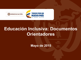 Educación inclusiva: Documentos educadores