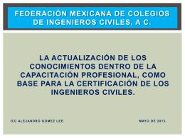 Federación mexicana de colegios de ingenieros civiles, a c.