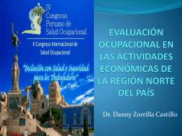 evaluación ocupacional en las actividades económicas de