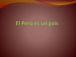 El Perú es un país