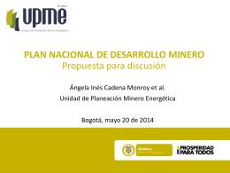 UPME-PNDM2010-2019_PropuestaMME-DNP